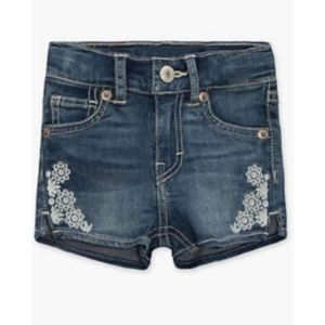 NEW LEVI'S®Baby 12M Embroidered Shorty Short